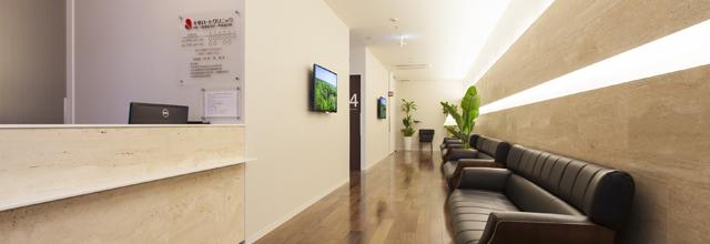 広々とした待合室のイメージ